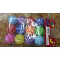 Bolsa Con 12 Pelotitas Plasticas De Cotillon Para Piñata