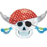 Globos Metalizado Piratas, Se Entrega Inflado!!!!!