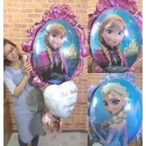 Globo Frozen Metalizado De 24 Pulgadas Anna Y Elsa