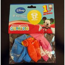 Globos Mickey 1 Año Por 8 Globos