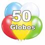 Globos Led, Pack 50 Unidades, Colores Surtidos