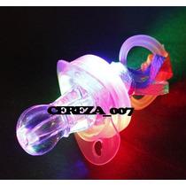 4 Silvatos Chupetes Con Luces Multi Correa Cotillon Luminoso