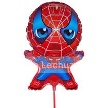10 Globos Metalizados Hombre Araña Spiderman Cotillón Fiesta
