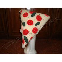 Pizza, Gorro De Goma Espuma Para Cotillon