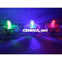 Velas Led Multicolor Sumergibles X 12 Luces Cotillon Fiesta