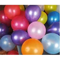 25 Globos Perlados 12 Pulgadas Multicolor O Por Color