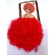 Peluca Afro Color Rojo