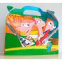 Cajita Golosinera Phineas Y Ferb Pack X70 Valijita Infantil