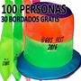 Combo Cotillon Fluo Sombrero Casamiento 15 Años X 100 Unidad