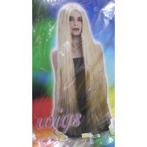Peluca Rubia De Cotillon Para Disfraz De Rapunzel O Cosplay