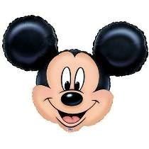 Globo Metalizado Gigante De La Cara De Mickey/minnie De 80 C