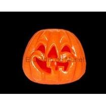 Fanal Calabaza Halloween De Parafina 10cm De Diametro