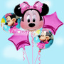 Bouquet Globos Minnie Mouse - 5 Piezas.