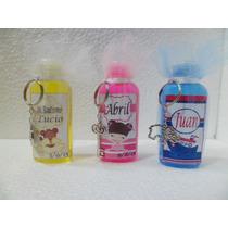 X 10 Souvenirs Personalizados Jabon Liquido Con Llavero