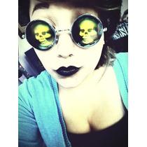 Lentes Tipo Lennon Holograma Calaveras Ideal Halloween