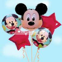 Bouquet Globos Mickey Mouse - 5 Piezas