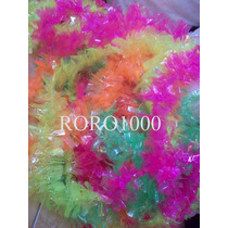 10 Collares Hawaianos Plasticos Fluorescentes Cotillon
