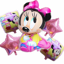 Bouquet Set Lote Globo Metalizado Minnie Bebe Deco Souvenir