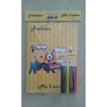 Libro Grande Y Lapices Personalizado Minions Toy Story