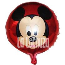 Globos Metalizados 45 Cm Mickey Mouse Pack X 10 Cotillón