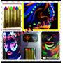 Maquillaje Cotillón Luminoso Crayon Fiesta Luz Negra X60 !!