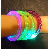 Pulseras Luminosas De Acrilico X10 - Cotillon Luminoso