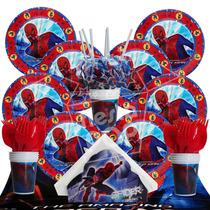 Hombre Araña Super Heroes Cotillón Kit 20 Chicos Cumpleaños