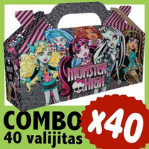 Monster High Cajita Valijita Bolsita Souvenir Combo X 40