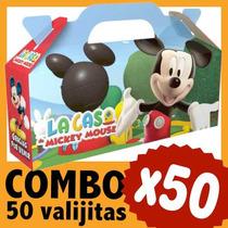 Mickey Cajita Valijita Golosinera Souvenir Combo X 50
