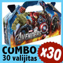 Avengers Vengadores Superheroes Cajita Valijita Bolsita X 30