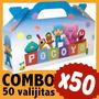 Pocoyo Cajita Valijita Golosinera Souvenir Combo X 50