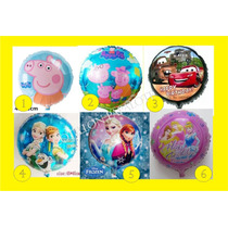 30 Globos Frozen Peppa Pig Minions Cars Spiderman Mickey