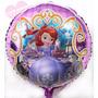 30 Globos Redondos Metalizados 45 Cm Princesa Sofia