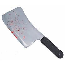 Hachuela De Carnicero Con Sangre Plastica/halloween