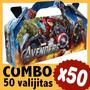 Avengers Vengadores Superheroes Cajita Valijita Bolsita X50