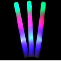 100 Barras Goma Espuma Luminosa Led Rompecoco Multicolor Y..