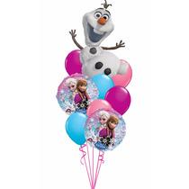 Kit Bouquet De Globos Olaf Frozen P Inflar Con Helio O Aire