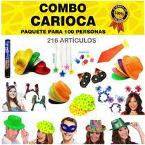 Pack Cotillón Carioca 100 Pers. Fiestas Casamiento 15 Años
