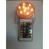 Vela Led Multicolor Rgb Sumergible C/control Remoto