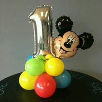 Cabeza Mickey O Minnie 7pulgadas (14x9cm) X10unidades