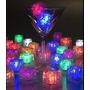 Cubito De Hielo Led Reusable Luminoso Multicolor Luz Copa