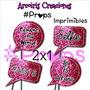 2x1 Props Imprimibles Glitter 15 Años Candy Bar Fotos