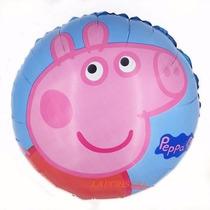 30 Globos Peppa Pig Metalizados 18 Pulgadas