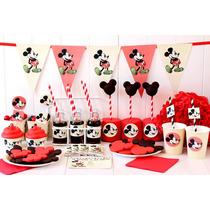 Cumpleaños Mickey Kit Deco Impresión Y Recorte