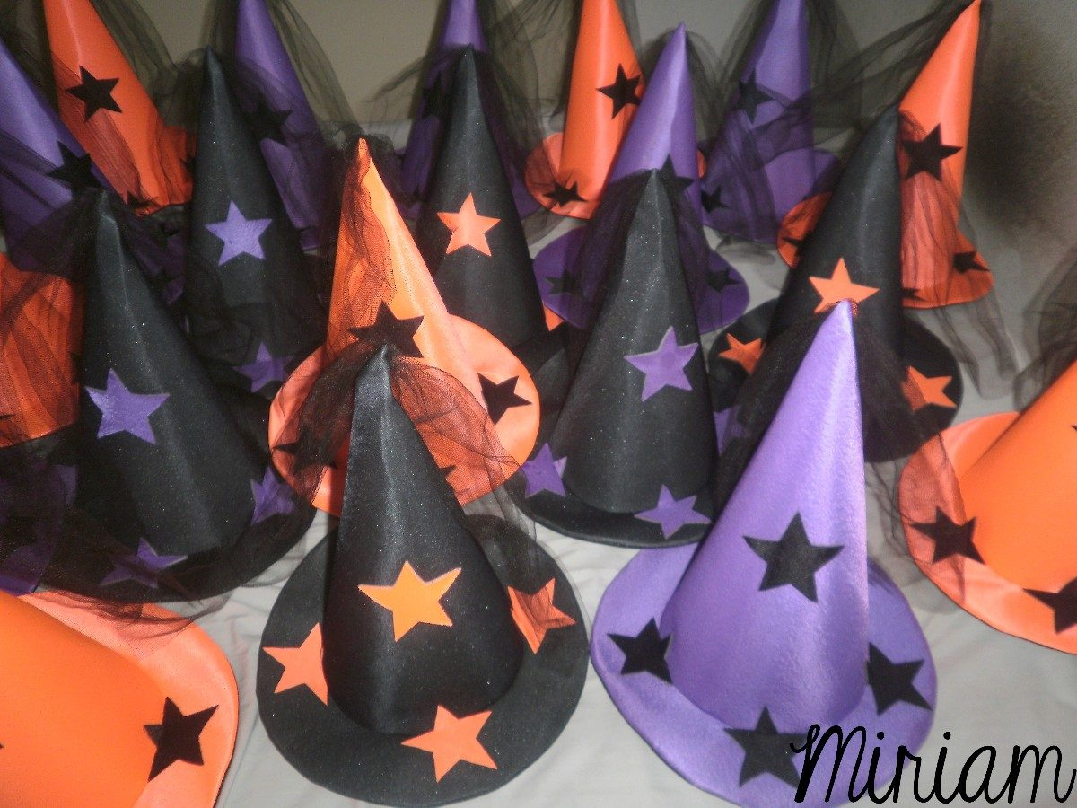 Cotillón Fluo Gorros Galeras Brujas Halloween Oferta X 10 ...