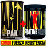 Combo Super Fuerza Animal Pak + Creatina 300 Universal