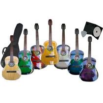 Guitarra Criolla Estudio Promo Funda+pua+dvd / Open-toys Ave