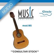 Guitarra De Iniciacion Tamaño Mediano Natural - M5- Bm Musi
