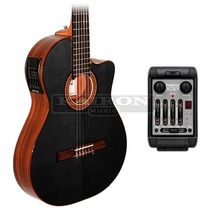 Guitarra La Alpujarra 85k Negra Eq Fishman Prefix Plus T