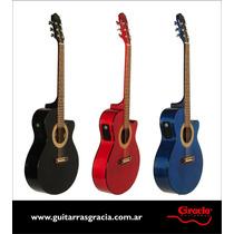 Guitarra Acustica Gracia 300 Eq (4 Bandas Y Afinador) Edenlp